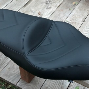 Kawasaki Concours Black Vinyl Laam Custom Motorcycle Seats - Vinyl for motorcycle seat
