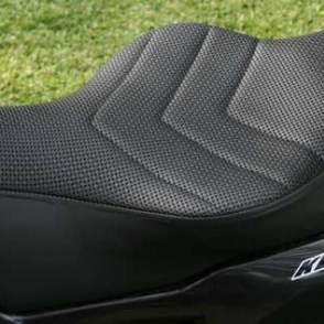 Kawasaki KLR Basket Weave Vinyl Laam Custom Motorcycle Seats - Vinyl for motorcycle seat